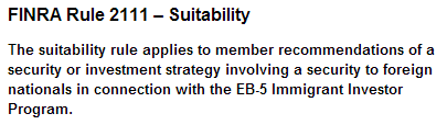 FINRA EB-5 securities